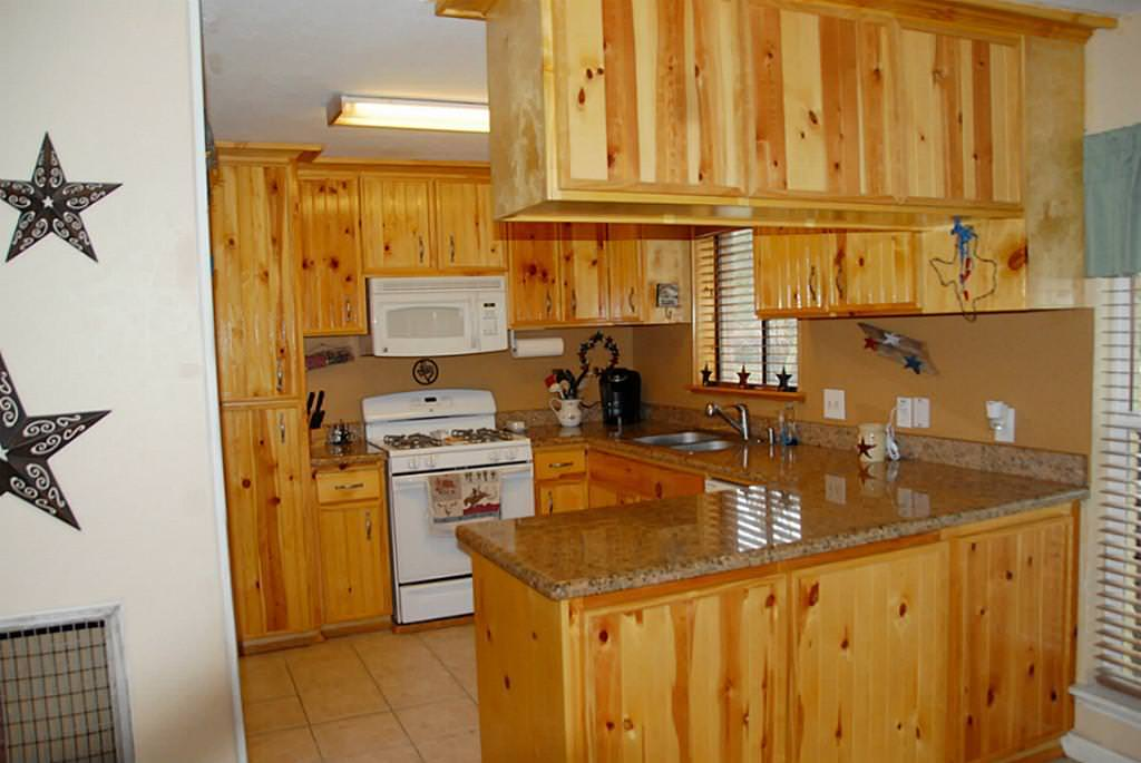 Knotty Pine Cabinets — Ideas Roni Young from