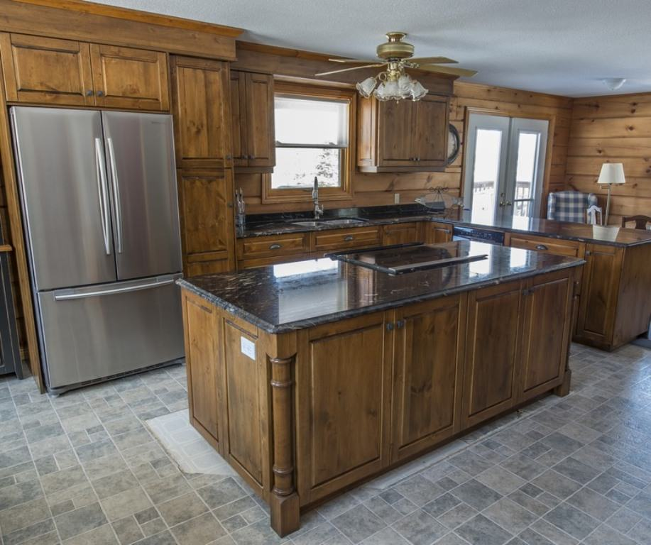 Remodeling Knotty Pine: Unfinished Pine Kitchen Cabinets Top