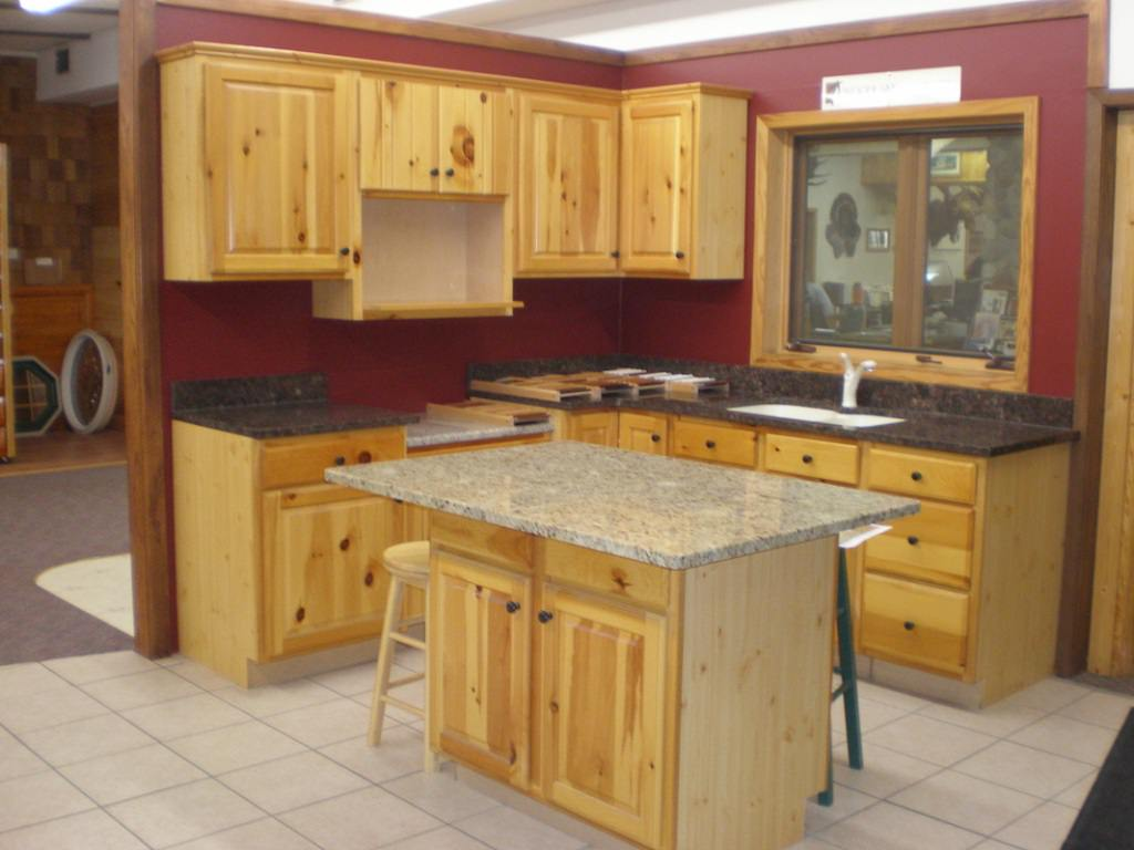 Used Knotty Pine Kitchen Cabinet — Ideas Roni Young : Best ...