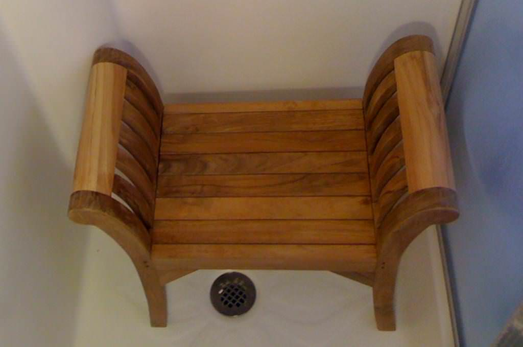 Teak Corner Shower Seat Basket Ideas Roni Young From