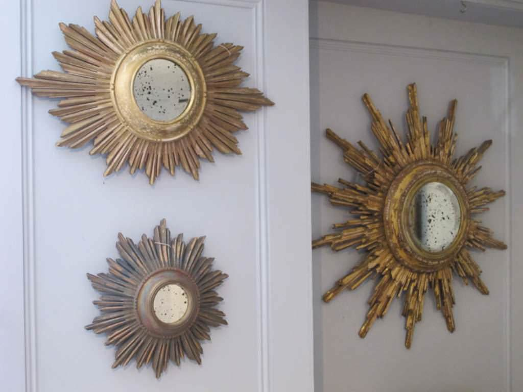Small Sunburst Mirror Wall Decor