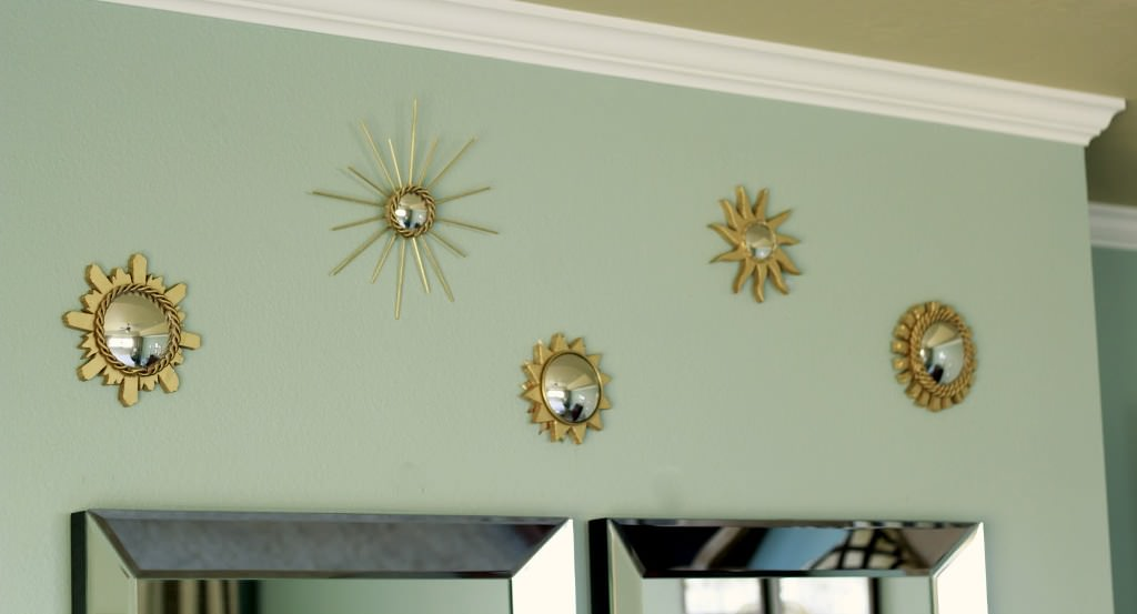 Small Sunburst Mirror Wall Decor Ideas Roni Young The Awesome