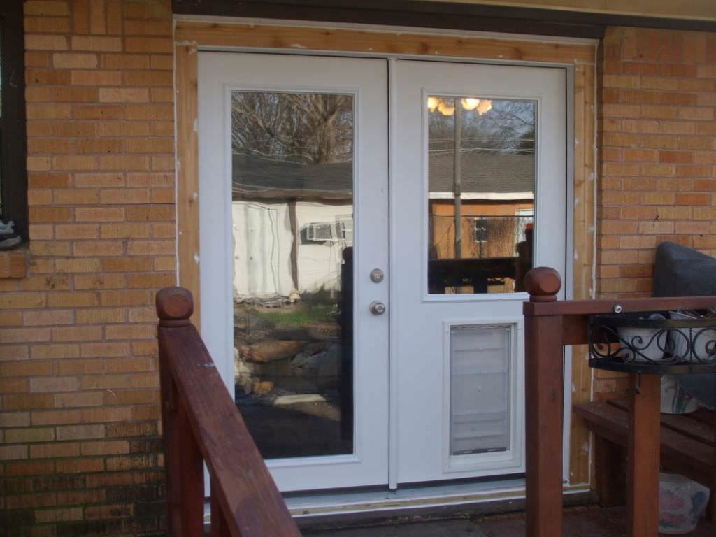 French Door With Doggie Door Installed Ideas Roni Young