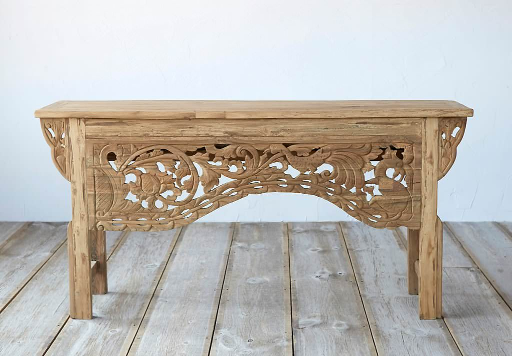 Teak Carving Wood Outdoor Console Table — Ideas Roni Young ...